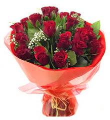 Rize hediye çiçek yolla  11 adet kimizi gülün ihtisami buket modeli
