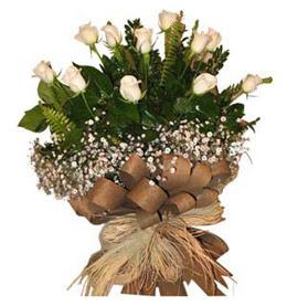 Rize çiçek online çiçek siparişi  9 adet beyaz gül buketi