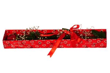 Rize çiçek online çiçek siparişi  kutu içerisinde 1 adet kirmizi gül