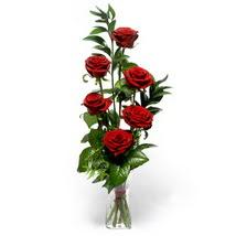 Rize online çiçekçi , çiçek siparişi  cam yada mika vazo içerisinde 6 adet kirmizi gül