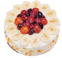 Meyvali 4 ile 6 kisilik yas pasta leziz  Rize kaliteli taze ve ucuz çiçekler