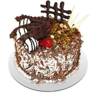 4 ile 6 kisilik çikolatali yas pasta  Rize internetten çiçek siparişi