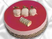 pasta siparisi 4 ile 6 kisilik yas pasta çilekli yaspasta  Rize internetten çiçek satışı