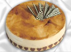 taze pasta 4 ile 6 kisilik yas pasta karamelli yaspasta  Rize İnternetten çiçek siparişi