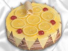 taze pastaci 4 ile 6 kisilik yas pasta limonlu yaspasta  Rize çiçek gönderme