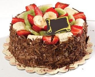 pastaci firmasindan 4 ile 6 kisilik çikolata meyvali yaspasta  Rize online çiçekçi , çiçek siparişi