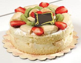 pasta siparisi 4 ile 6 kisilik karisik meyvali yas pasta  Rize internetten çiçek satışı