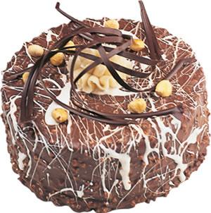 pasta satisi 4 ile 6 kisilik çikolatali yas pasta  Rize uluslararası çiçek gönderme