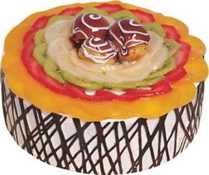 pasta siparisi 4 ile 6 kisilik meyvali yas pasta  Rize çiçek servisi , çiçekçi adresleri