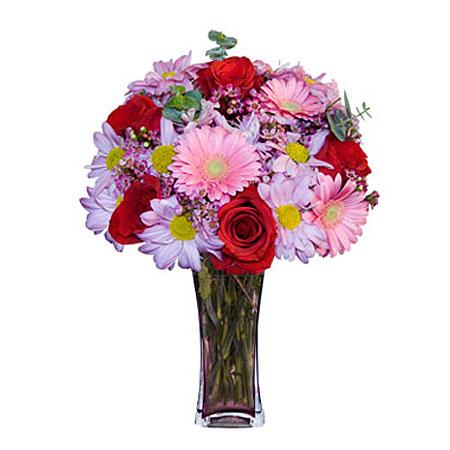 Görsel hediye karisik cam mevsim demeti  Rize yurtiçi ve yurtdışı çiçek siparişi
