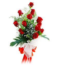 11 adet kirmizi güllerden görsel sölen buket  Rize çiçek yolla