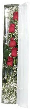 Rize online çiçekçi , çiçek siparişi   5 adet gülden kutu güller