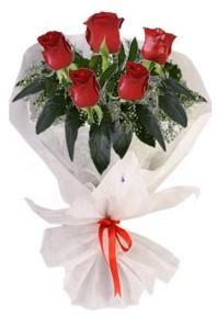 5 adet kirmizi gül buketi  Rize İnternetten çiçek siparişi