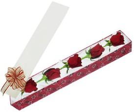 Rize çiçek yolla , çiçek gönder , çiçekçi   kutu içerisinde 5 adet kirmizi gül
