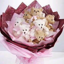 9 adet ayiciktan buket  Rize çiçek gönderme sitemiz güvenlidir