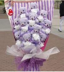 11 adet pelus ayicik buketi  Rize 14 şubat sevgililer günü çiçek