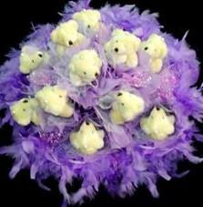 11 adet pelus ayicik buketi  Rize çiçek mağazası , çiçekçi adresleri