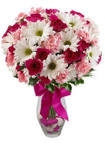 Rize online çiçekçi , çiçek siparişi  Karisik mevsim kir çiçegi vazosu