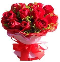 9 adet kirmizi güllerden kipkirmizi buket  Rize İnternetten çiçek siparişi