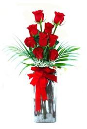 Rize çiçek online çiçek siparişi  9 adet mika yada cam vazoda gül tanzimi