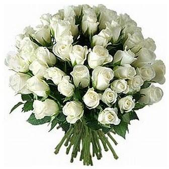 Rize internetten çiçek satışı  33 adet beyaz gül buketi