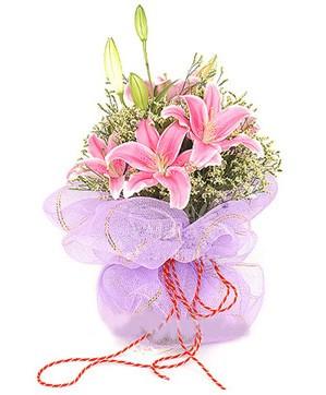 3 dal kazablanka görsel buketi  Rize çiçek yolla , çiçek gönder , çiçekçi