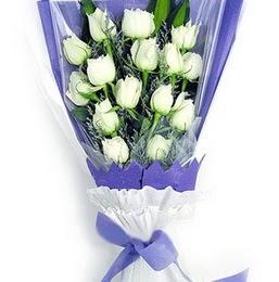 Rize yurtiçi ve yurtdışı çiçek siparişi  11 adet beyaz gül buket modeli