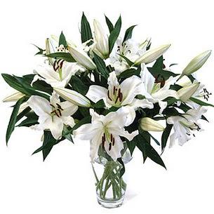 Rize çiçek online çiçek siparişi  3 dal görsel casablanca vazo tanzimi