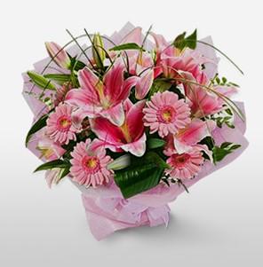1 dal kazablanka ve kır çiçek görsel buketi  Rize çiçek yolla , çiçek gönder , çiçekçi