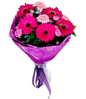 Rize online çiçekçi , çiçek siparişi  karışık gerbera çiçeği buketi