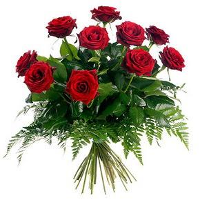 Rize hediye sevgilime hediye çiçek  10 adet kırmızı gülden buket
