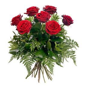 Rize çiçek gönderme  7 adet kırmızı gülden buket