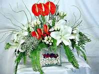 Rize çiçekçiler  Anthurim Kazablanka  gül