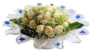 Rize çiçek siparişi sitesi  11 adet Beyaz güller özel cam tanzim