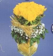 Rize hediye çiçek yolla  Cam vazoda 9 Sari gül
