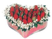 Rize çiçek online çiçek siparişi  mika kalpte kirmizi güller 9