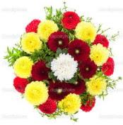 Rize yurtiçi ve yurtdışı çiçek siparişi  13 adet mevsim çiçeğinden görsel buket