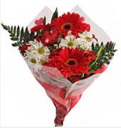Mevsim çiçeklerinden görsel buket  Rize İnternetten çiçek siparişi