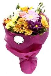 1 demet karışık görsel buket  Rize hediye çiçek yolla