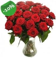 Vazo içerisinde 25 adet kırmızı gül  Rize çiçekçi telefonları