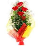 5 li kırmızı gül buketi  Rize çiçek yolla , çiçek gönder , çiçekçi