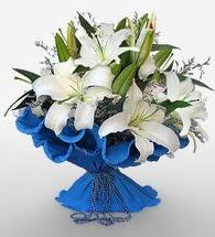4 dal kazablanka çiçeğinden buket  Rize çiçekçi telefonları