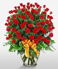 Görsel vazo içerisinde 101 adet gül  Rize çiçekçi telefonları