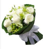 9 adet beyaz gül buketi  Rize online çiçekçi , çiçek siparişi