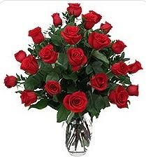 Rize online çiçekçi , çiçek siparişi  24 adet kırmızı gülden vazo tanzimi