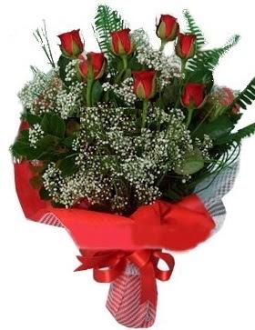 7 kırmızı gül buketi  Rize internetten çiçek satışı
