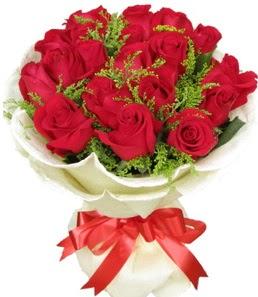 19 adet kırmızı gülden buket tanzimi  Rize internetten çiçek satışı