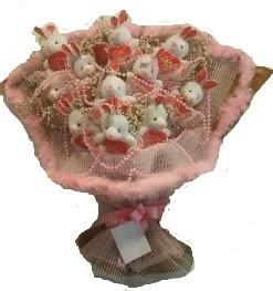 12 adet tavşan buketi  Rize çiçekçiler