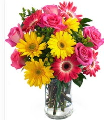 Vazoda Karışık mevsim çiçeği  Rize yurtiçi ve yurtdışı çiçek siparişi
