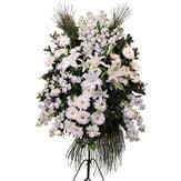 Rize çiçekçi telefonları  Ferforje beyaz renkli kazablanka